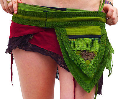 Triangle Pixie Pocket Belt - Hip Bag Goa Bohemian Hippie Fairy Pocket Belt