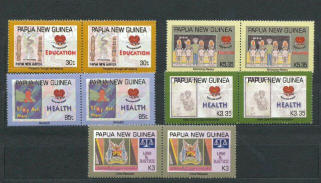 PAPUA NEW GUINEA 2007 National Stamp Design Art  MNH Pairs(10 Stamps)Pap168