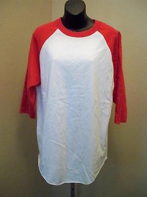 Besorgt New-blank Herren Gr Fanartikel Sport L Rot & Weiß 3/4 Ärmel Baseball T-shirt HöChste Bequemlichkeit