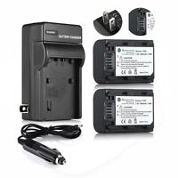Np-fh50 Battery + Charger For Sony Dsc-hx1 Hx100v Hx200v Alpha A390 A330 A230
