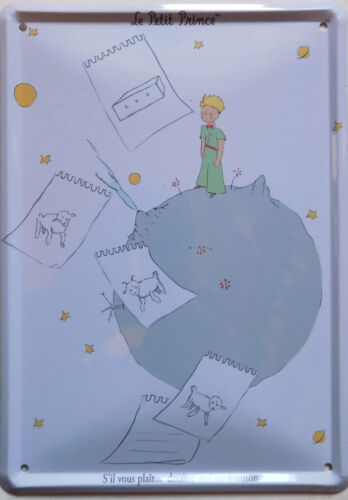 5 7//8X8 5//16in METAL PLATE vintage retro le PETIT PRINCE the sheep NEW