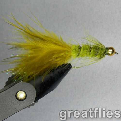 1 dozen Bead Head 12 - Woolly Bugger OLIVE
