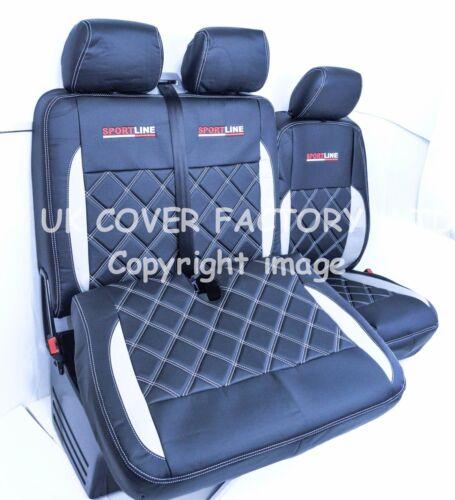 MERCEDES SPRINTER VW CRAFTER VAN SEAT COVERS  SILVER BENTLEY  152BK-SV-SV