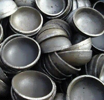 domed Pipe Caps:  steel weld on size 4- inch Outside Diameter Lot of 20