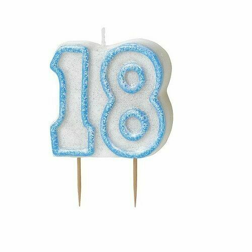 Bailym 18th Birthday Candles,Gold Number 18 Cake Topper for Birthday Decorations Party Decoration