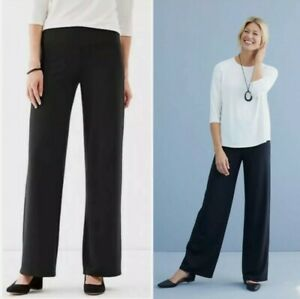 J-JILL-Wearever-Collection-Size-Large-Smooth-Fit-Full-Leg-Black-Pants