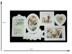 Cornici A Cuore Per Foto.Dettagli Su Cornice Portafoto Shabby Chic Provenzale Con 5 Cornici Con Cuore Ovale E Rose