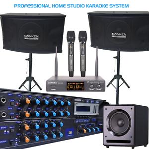 SONKEN HOME KARAOKE STUDIO PACKAGE DEAL (KA-12 AMP/CS-350 SPK/SUB/WIRELESS MICS