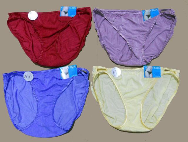 5 S 4 pack VANITY FAIR String Bikini ILLUMINATION 18108 mixed prints PANTY