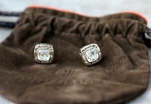 John Hardy Kali Batu White Topaz Square Earrings 1PbbFCwrd