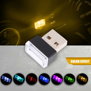 Universal USB Wireless Mini Interior Car Light LED Home Neon Atmosphere Lamps