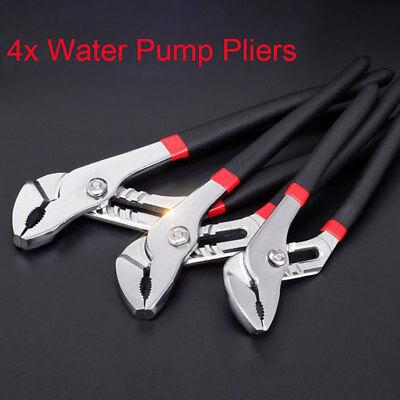 """300mm 12/"""" Plumbers Slim Jaw Waterpump Pipe Wrench Pliers Grips Easy To Adjust"""