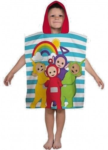 """Official Teletubbies """"Playtime"""" Character Hooded Towel Poncho GIFT SUMMER BEACH"""