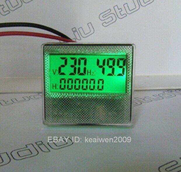 Mu45 1phase 300v Generator Digital Voltage Hour Frequency LCD Combo Meter  Gauge