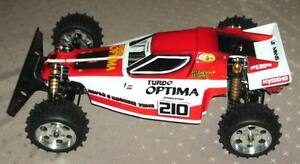 Kyosho-Optima-Turbo-Reproduction-Lexan-body-shell-Kamtec-110-only-19-99