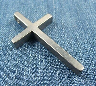3 Size Pure Titanium Cross Necklace Pendant Anti-allergic Ti Necklace Pendant