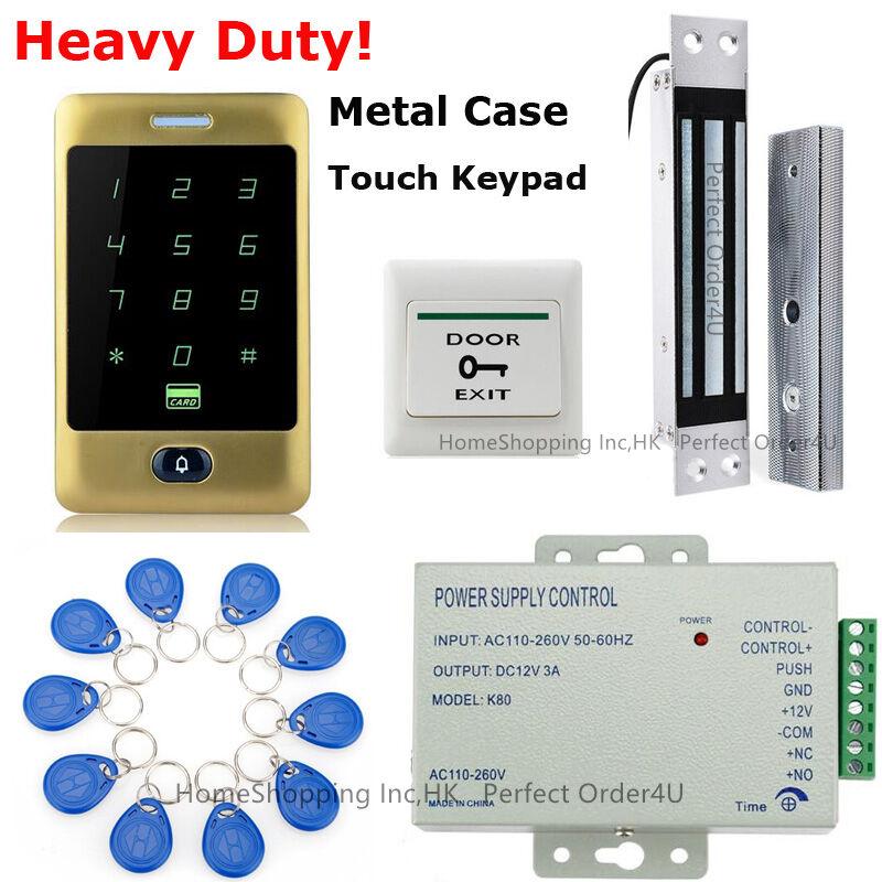 Puerta De oro contraseña de tarjeta Impermeable RFID Control De Acceso + Cerradura Magnética Eléctrica