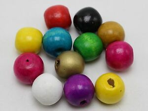 50-Mixed-Color-Round-Wood-Beads-Wooden-Beads-16mm