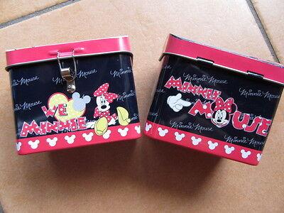 """Gewidmet """" Disney - Minnie - Maus """" Blech-spardose Schwarz - Rosa 9 X 7,5 Cm, Neu+origin Gute QualitäT"""