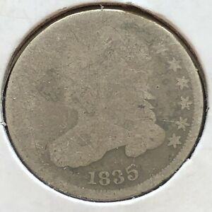 1835 Capped Bust Dime 10c Circulated #2182