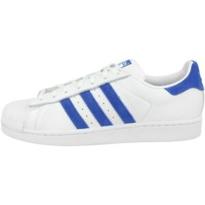 Details zu Adidas Superstar Schuhe Originals Retro Freizeit Sneaker white blue EE4474
