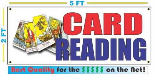 CARD READING Banner Sign NEW Larger Size Best Quality for the $$$ Tarot