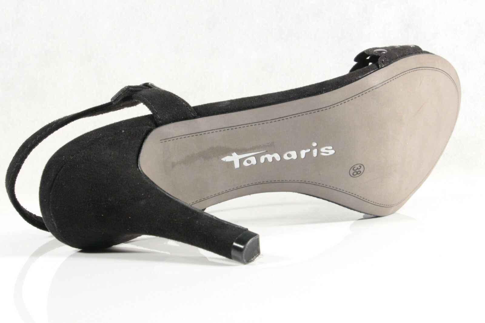 Señora Tamaris sandalia decorado negro, nuevo!