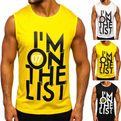 Tanktop T-Shirt Tee Muskelshirt Aufdruck Achselshirt Herren BOLF 3C3 Print