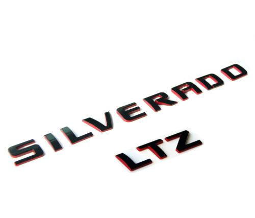 1x GENUINE SILVERADO LTZ Nameplate Emblem Badge 3D 1500 2500HD OEM Red Line F