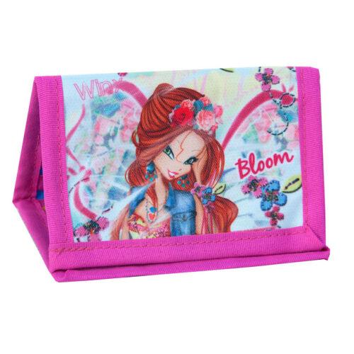 Winx fairy portefeuille sac à main sur une chaîne filles bleu rose bloom