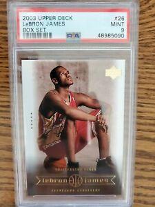 2003 Lebron James Rookie PSA 9 Upper Deck Box Set #26 RC Cleveland Cavaliers