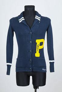 Ralph-Lauren-POLO-JEANS-Men-039-s-Blue-long-sleeved-Button-Front-Cardigan-Size-XS