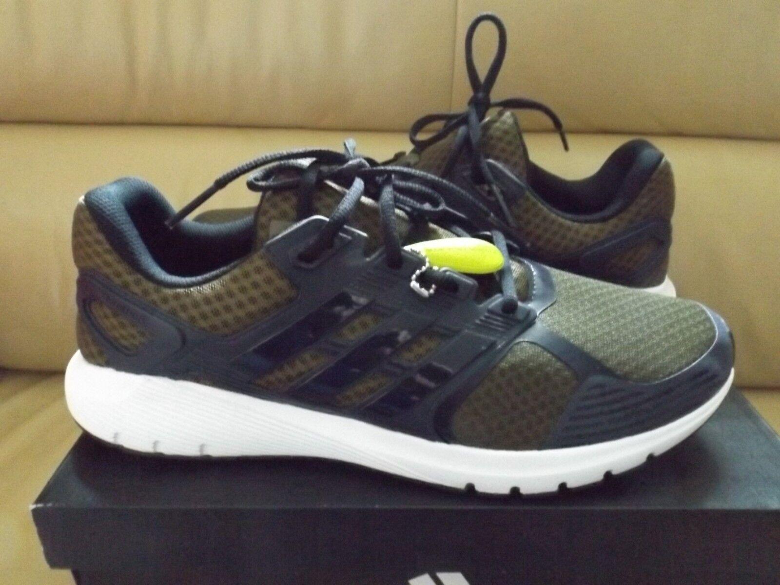 Adidas duramo 8 uomini dimensioni 11,5 scarpe da corsa cloudfoam oro grezzo / marina ba8081 nuova