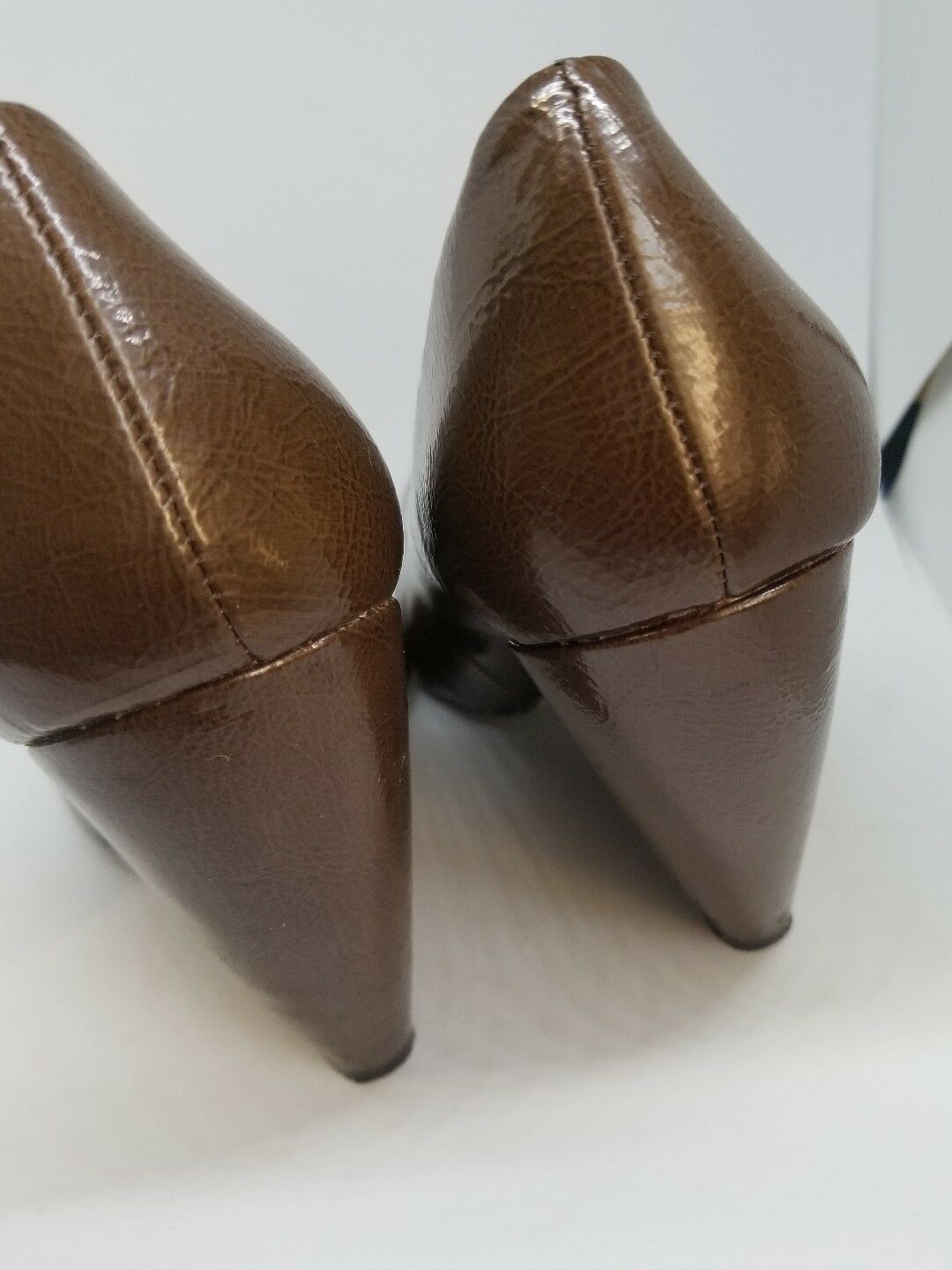 Seychelles round Shoes toe  brown Dress Shoes round patent Leather 8.5 e7cb22