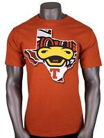 Majestic Texas Longhorns Mascot T-shirt Sz M Medium Brown Tu State Tex Cotton