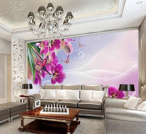 3D Flowers Butterfly 8 Wall Paper Murals Wall Print Wall Wallpaper Mural AU Kyra