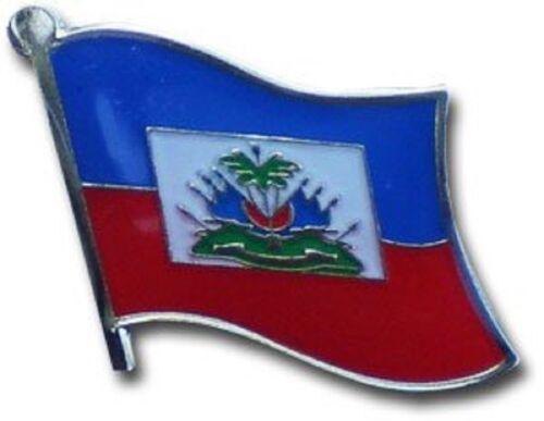 Wholesale Pack of 6 Haiti Country Flag Bike Hat Cap lapel Pin