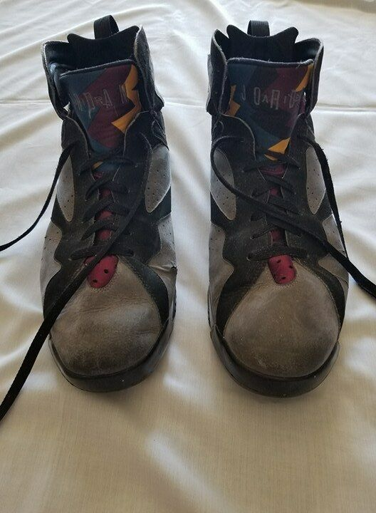 Pre-owned Jordan Retro 7 bordeaux size 17 Heavily worn, does not come with box