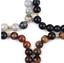 miniature 7 -  Bracelet with Stone Pen Natural Gemstone 6mm Bead Macrame Healing Reiki UKselle