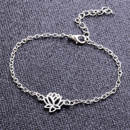 Simple Silver Chain Anklet Ankle Bracelet Barefoot Sandal Beach Foot Jewelry##