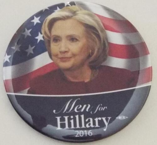 OFFICIAL MEN FOR HILLARY CLINTON PRESIDENT 2016  Campaign Button