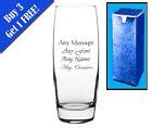 Personalised Engraved Round Vase Birthday Wedding Anniversary Gift Bridesmaid