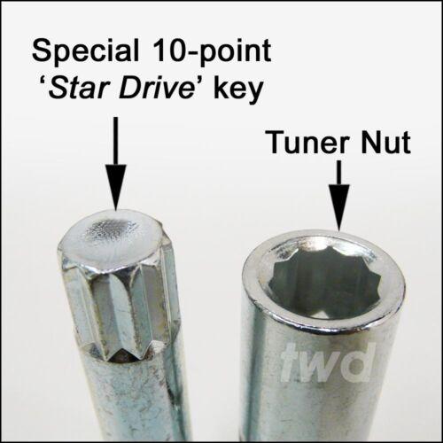 TU5 20 x Slim Sottile Stretta sintonizzatore Nuts Per TOYOTA GT86 after-market CERCHI IN LEGA