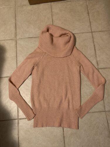 J Crew salmon pink pullover sweater S women