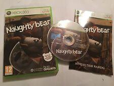 Xbox 360 juego Naughty Bear + Caja Instrucciones Completas UK/euro Formato PAL