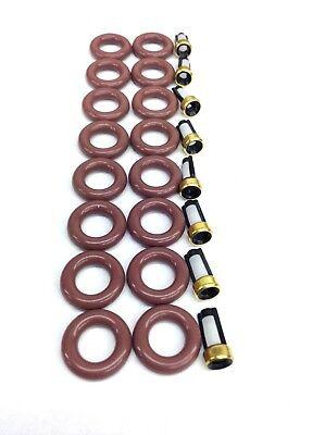 FUEL INJECTOR REPAIR KIT V8-5.3L FLEX FUEL CHEVROLET /& GMC 2002-07 O-RINGS,CAPS
