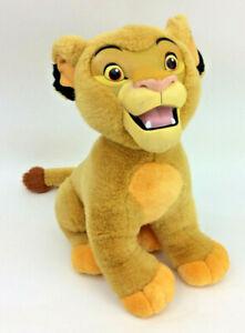Disney-LION-KING-Simba-Plush-15-034-Rubber-plastic-Face-Stuffed-Animal-Baby-Lion