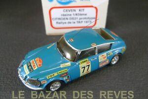 CEVEN-KIT-resine-CITROEN-DS-21-RALLYE-1973-Boite-Kit-monte-Echelle-1-43