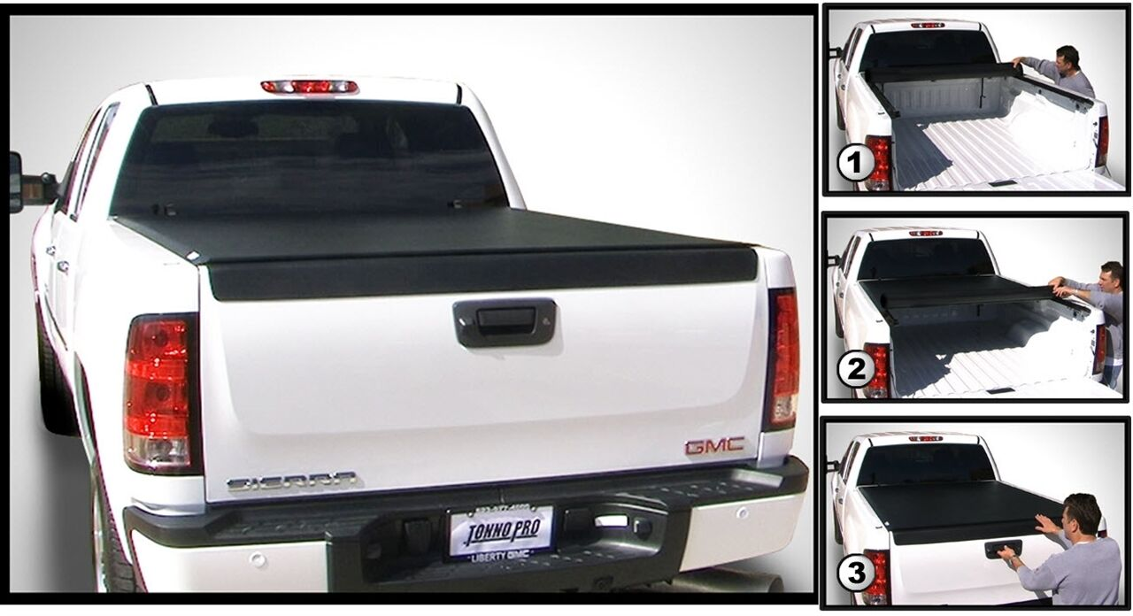 TonnoPro LR-5035 LoRoll Tonneau Truck Bed Cover for 2004-2006 Toyota Tundra