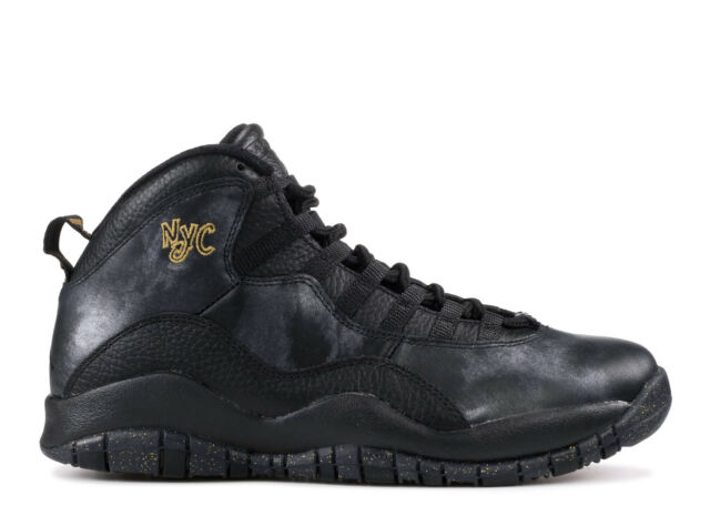 pretty nice f6499 dcad6 Nike Air Jordan Retro 10 NYC Black Men's Basketball Shoes Size 9